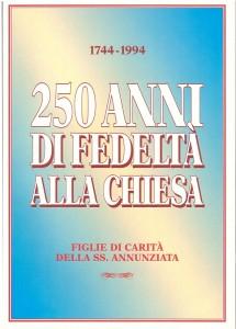 copertina 250 anni di fedeltà alla Chiesa